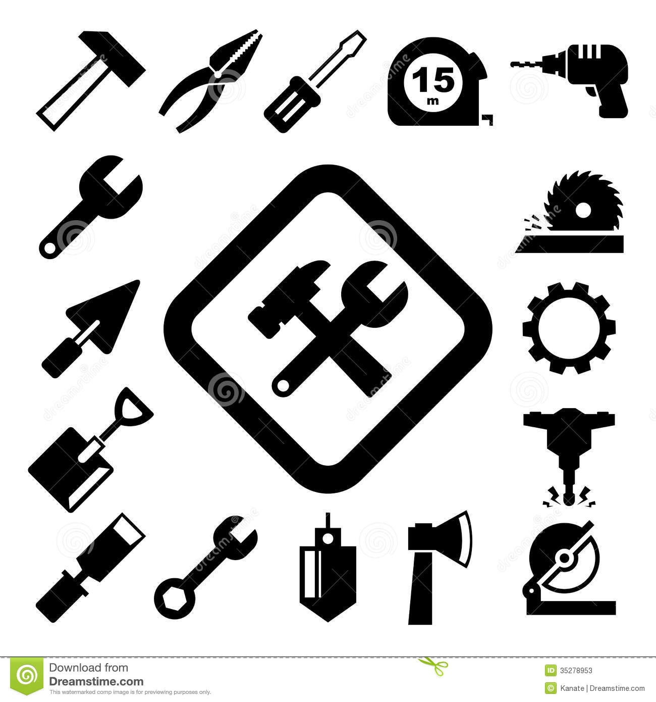 Construction Icons Set Stock Photos - Image: 35278953