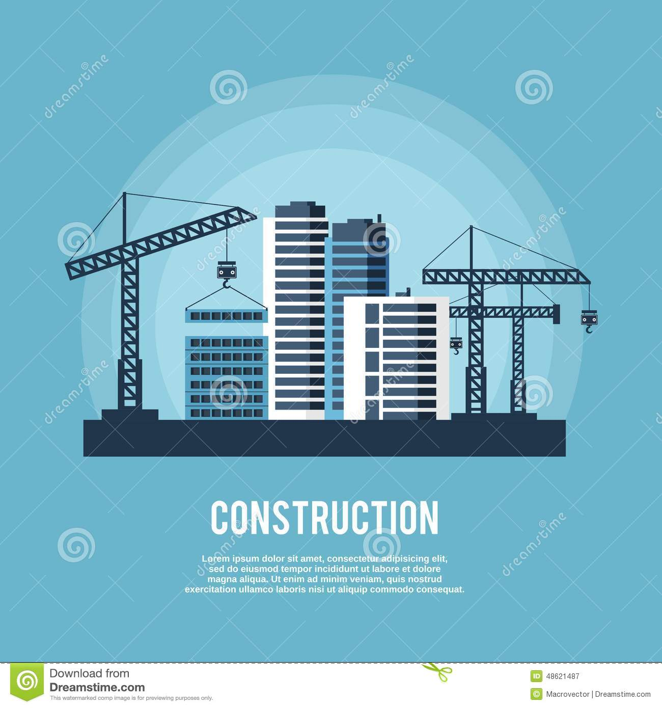 Construction Industry Poster Stock Vector - Image: 48621487