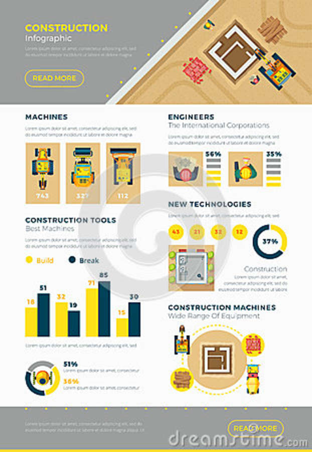 Construction Technology Tools : Excavator cartoons illustrations vector stock images
