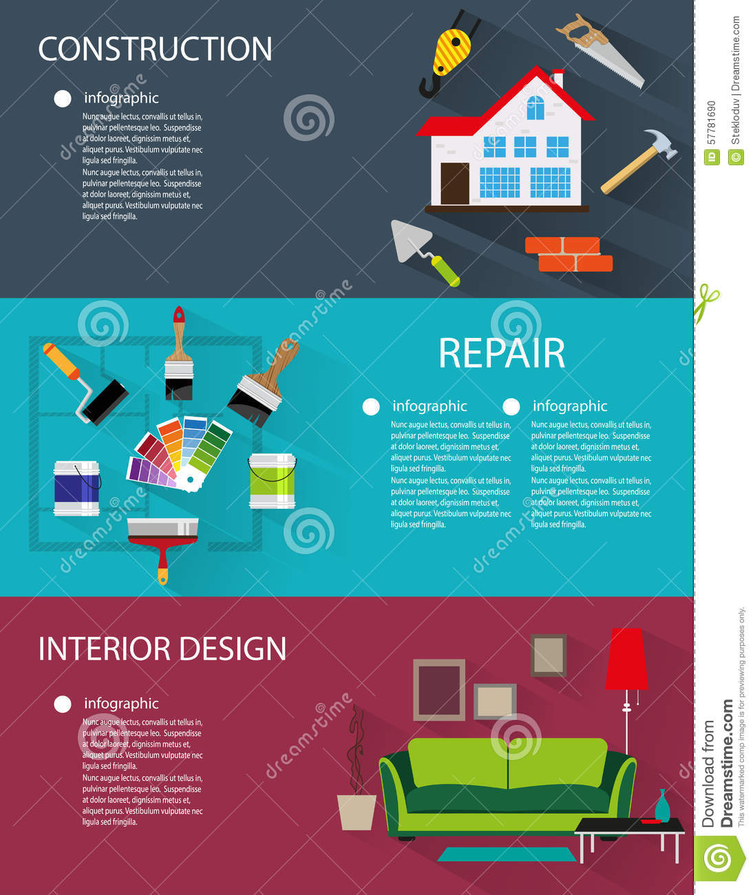 Royalty Free Vector Architecture Construction Design Infographic Interior