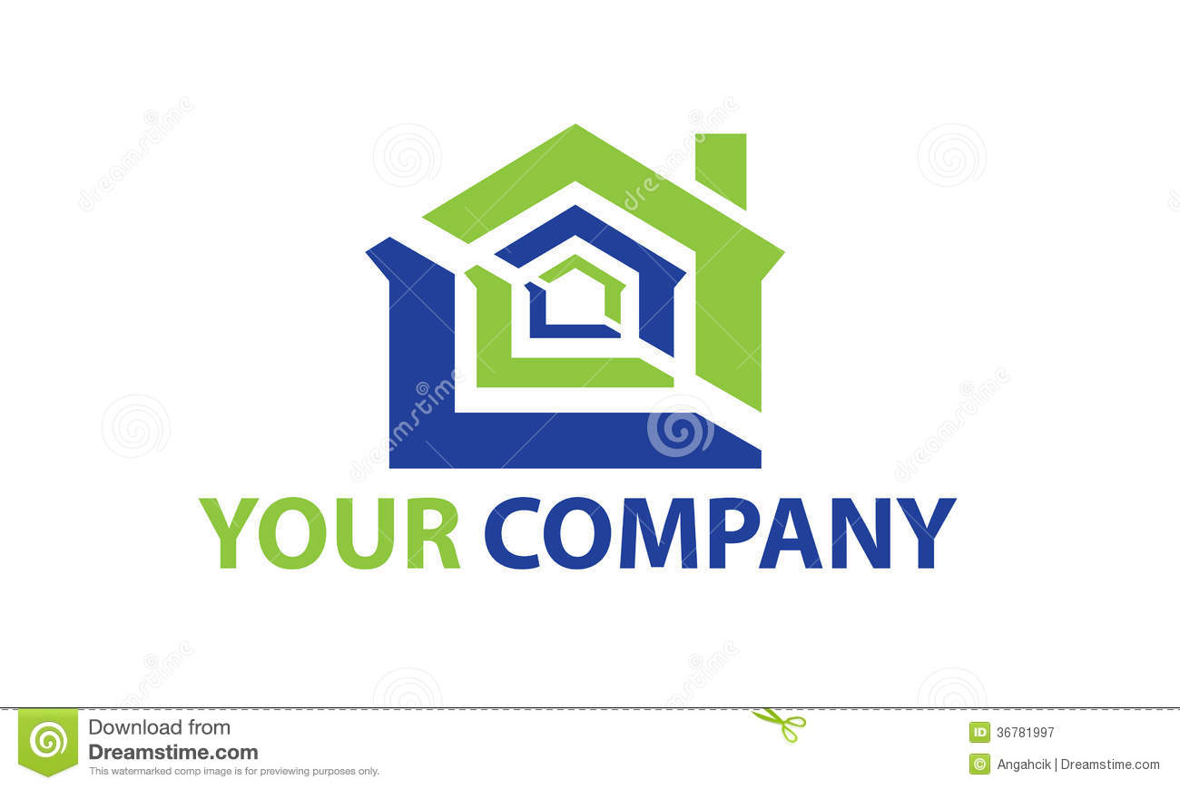 Construction logo stock vector illustration of home for House construction companies
