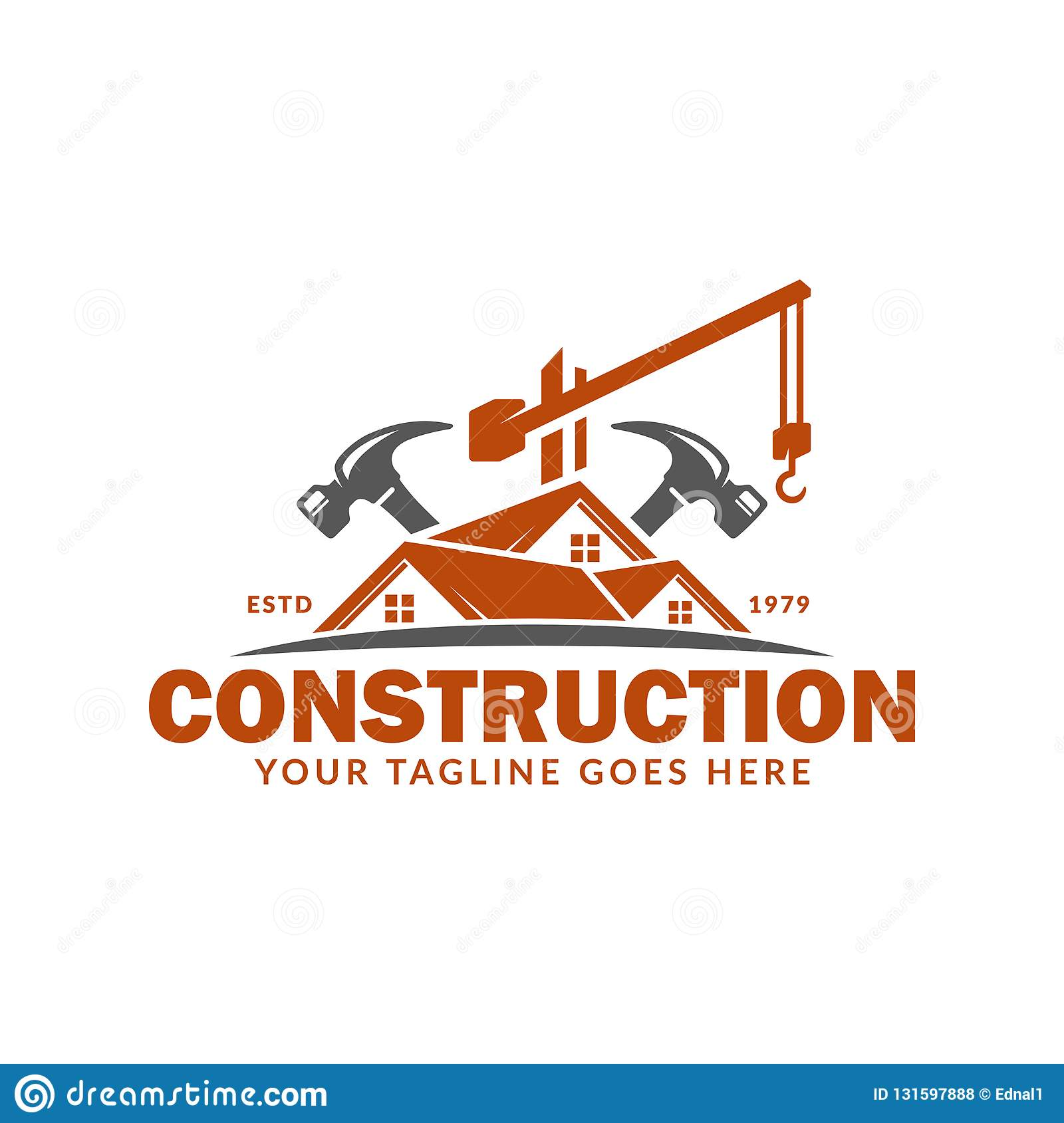 Dreams Construction Company: Construction Logo Template, Suitable For Construction