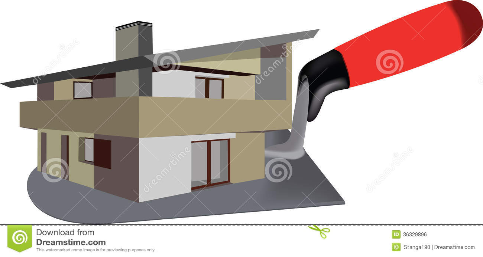 Royalty Free Stock Image Construction Logo Villa Building Trowel Image36329896 on Construction General Contractor Logos