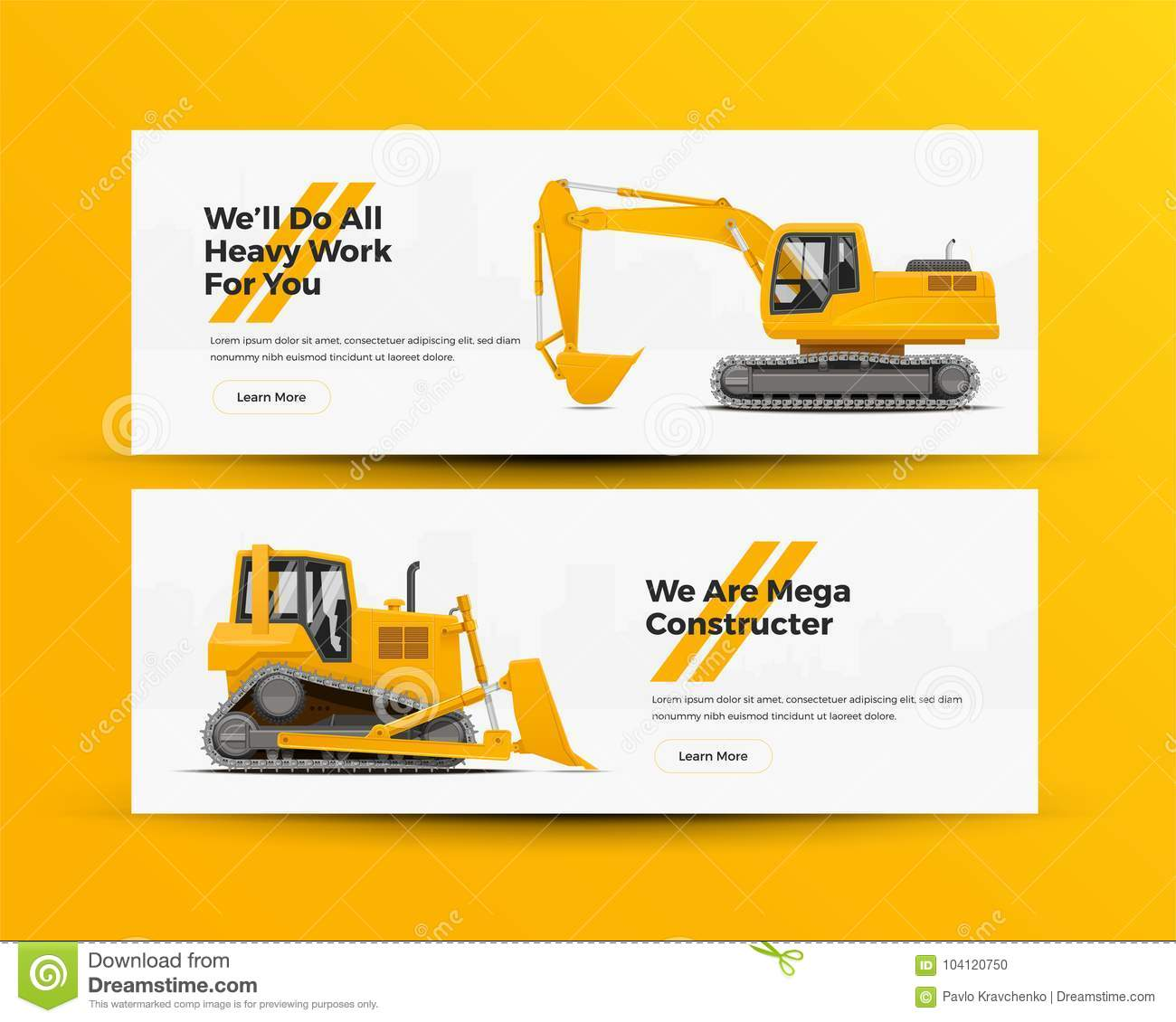 Dreams Construction Company: Construction Machinery Banners For Building Company