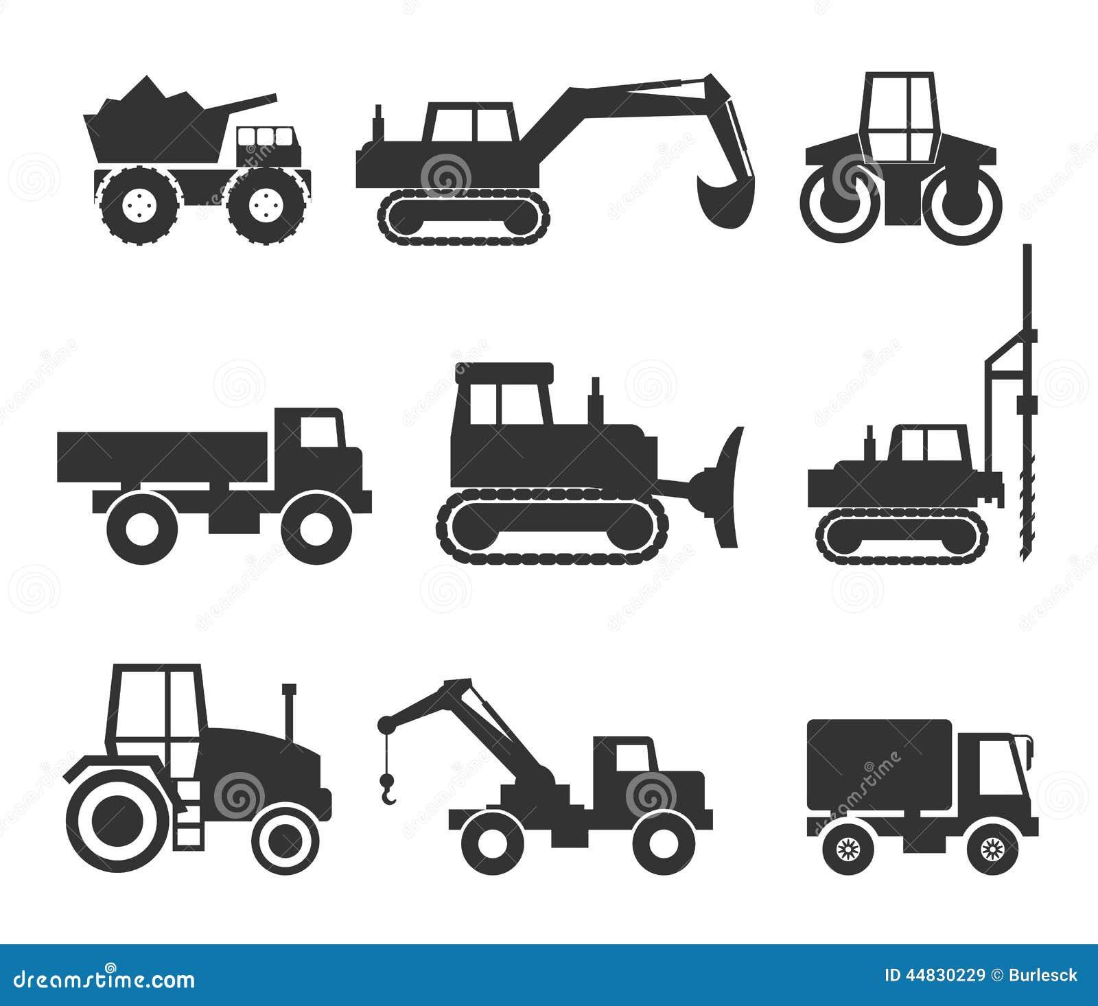 Construction Machinery Icon Symbol Graphics