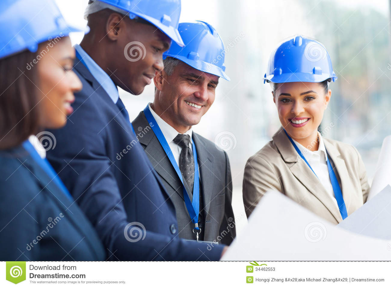 Construction Manager Working Stock Photos - Image: 34462553