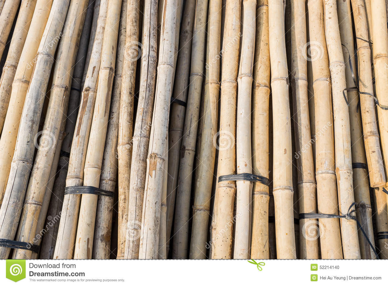 Construction Material Bamboo Stock Photo Image 52214140