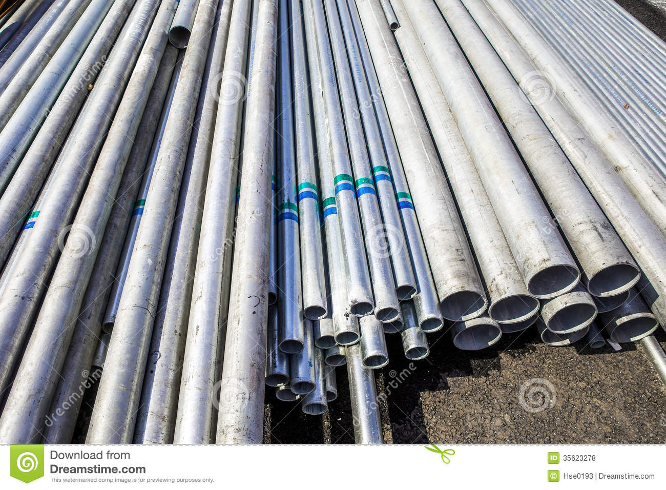 Construction material steel tube royalty free stock photos