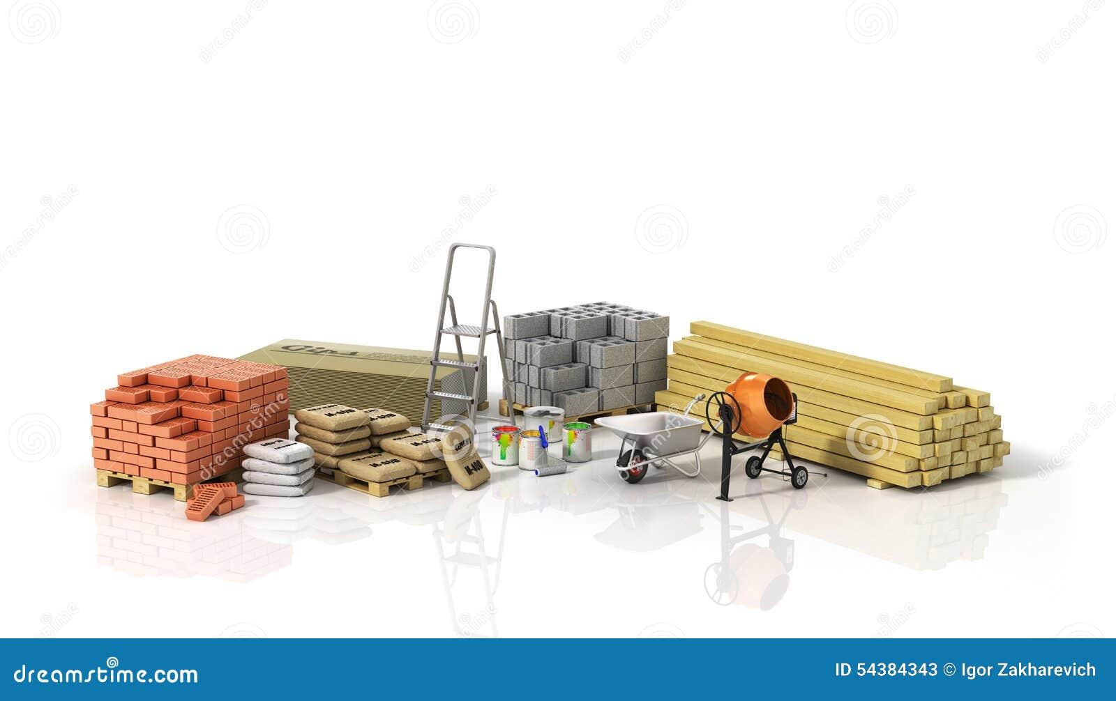 Construction materials stock illustration image 54384343 - Materiales de construccion tarragona ...