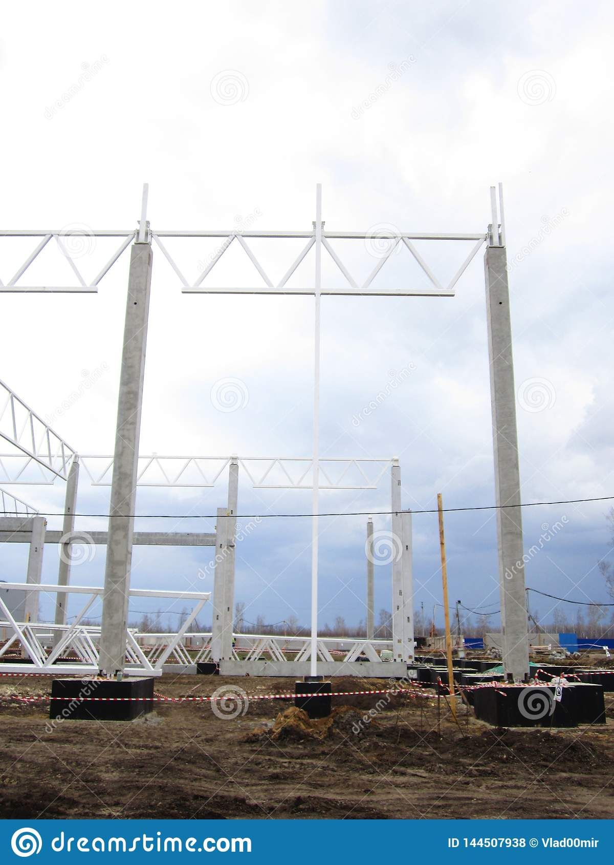Construction of a metal frame plant
