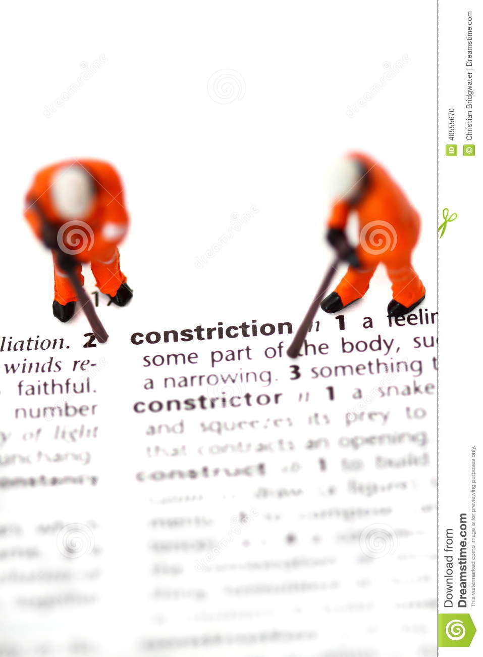 Construction model workers dictionary a stock photo for Building dictionary