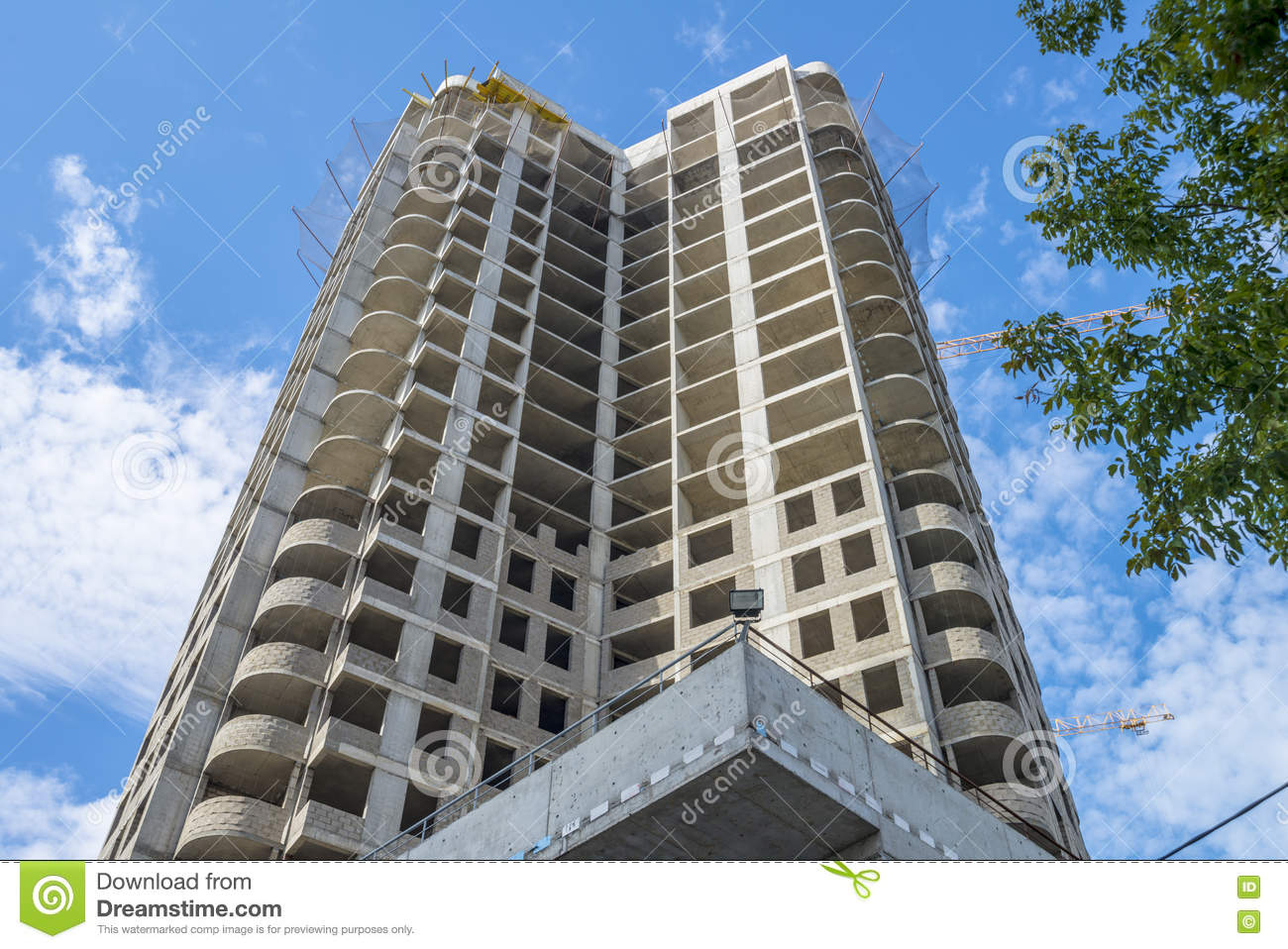 Apartment Building Construction construction modern high-rise apartment building stock photo