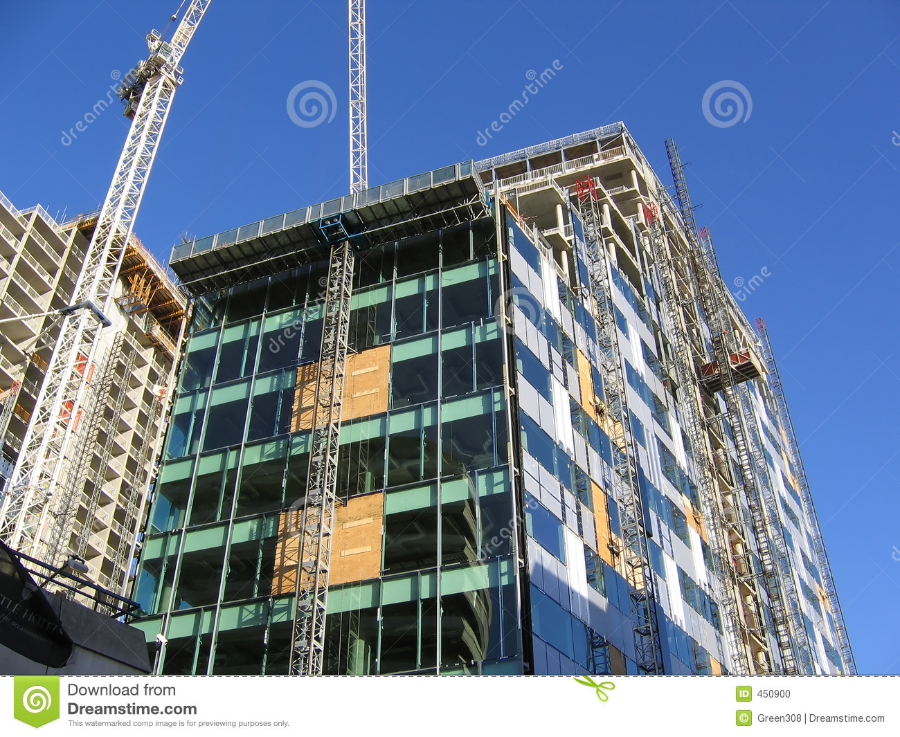 Download Construction Of Modern Office Building In Liverpool Stock Photo - Image of cranes, english: 450900