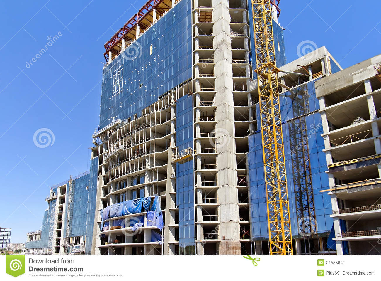 Construction Of Multi Storey Building Stock Image Image