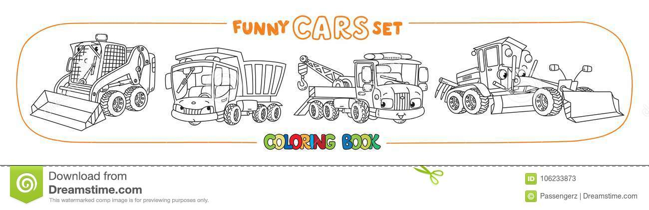 Construction And Municipal Cars Coloring Book
