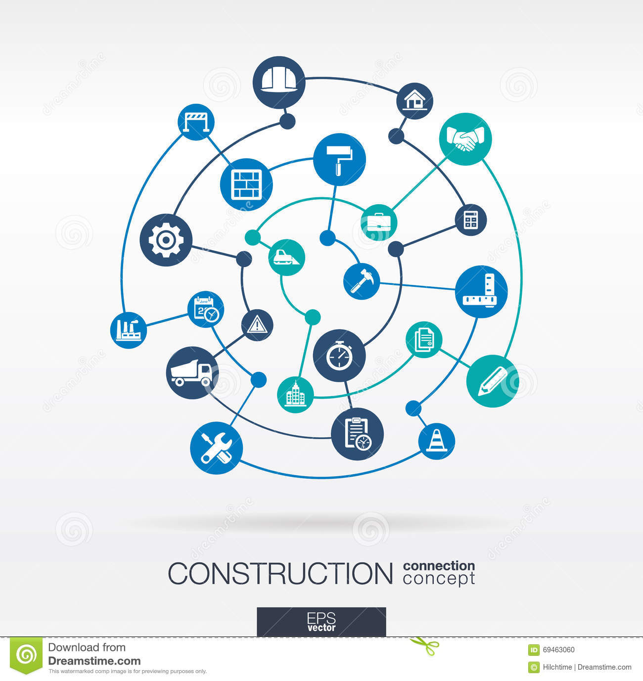 Construction Network Abstract Background With Lines
