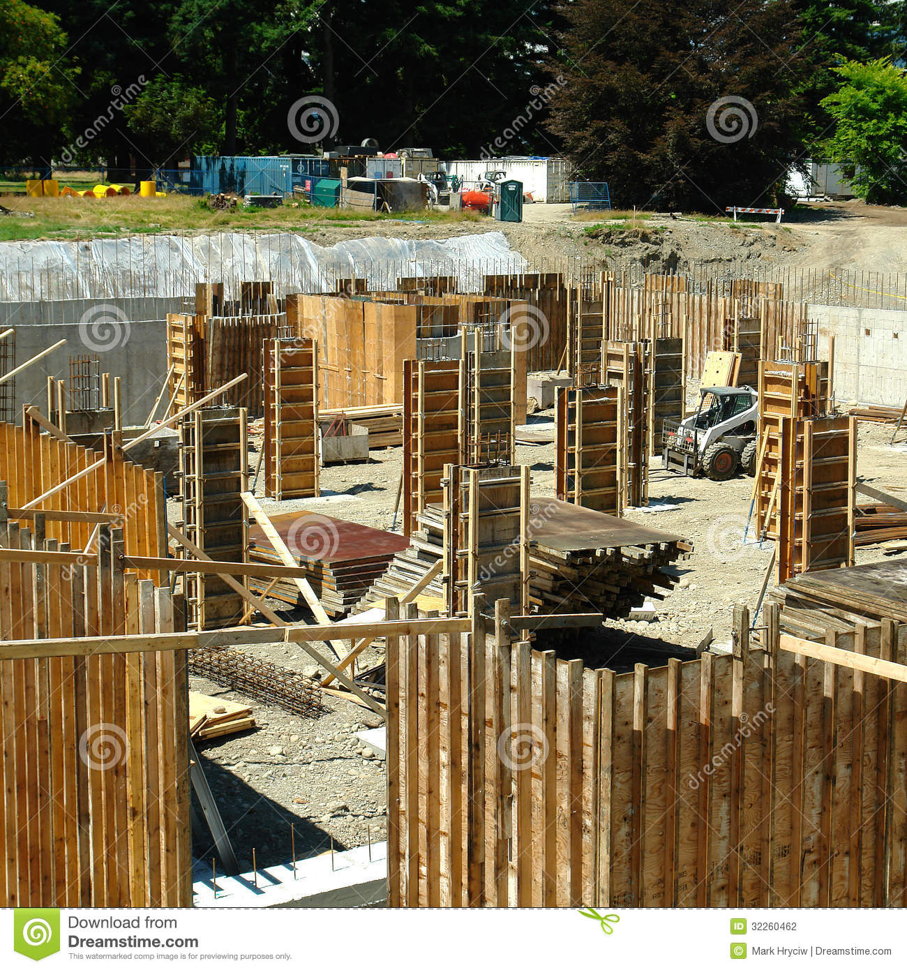 Construction stock photography image 32260462 for Stages in house construction