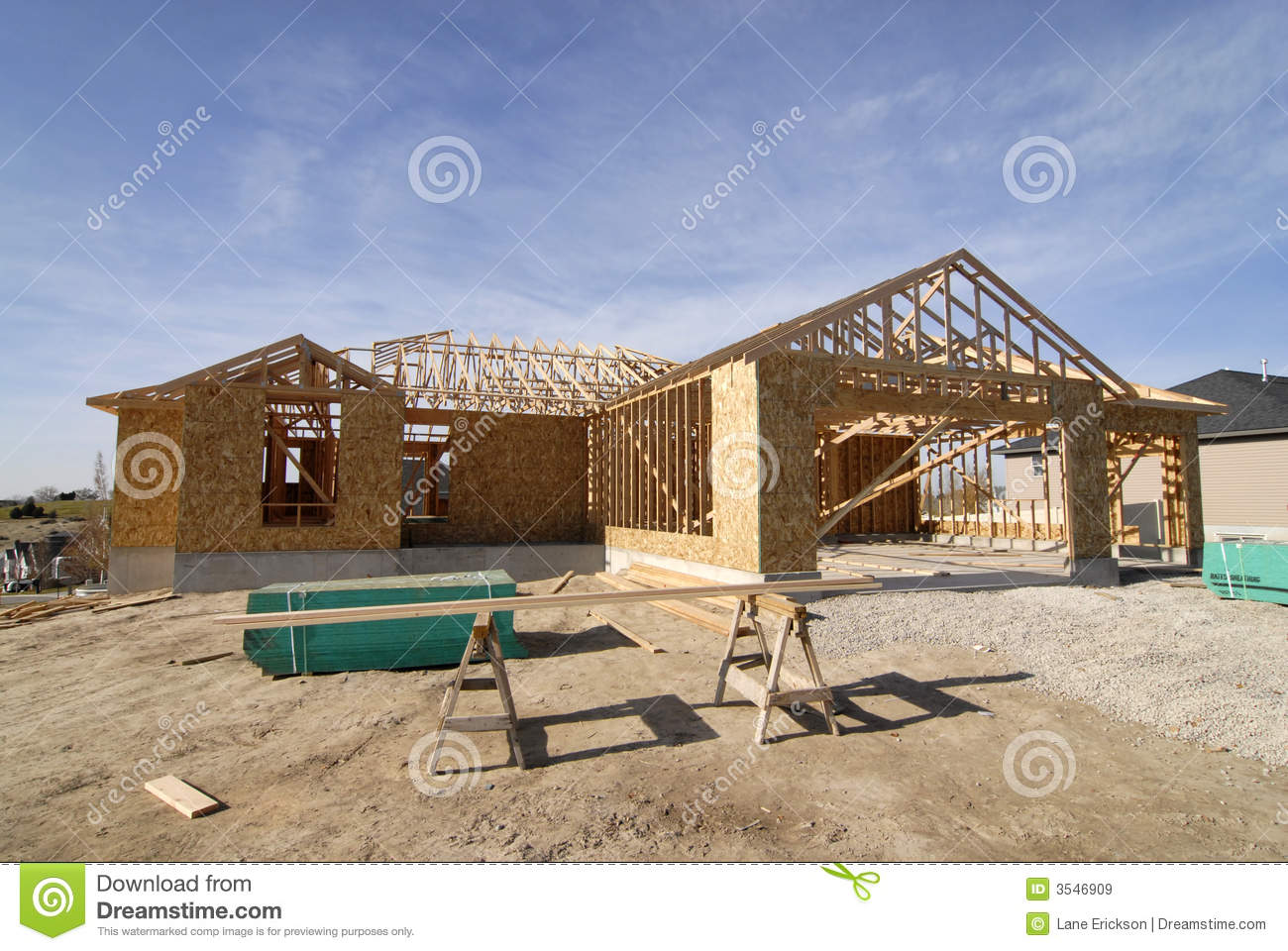 Construction of new home royalty free stock images image for Home construction websites
