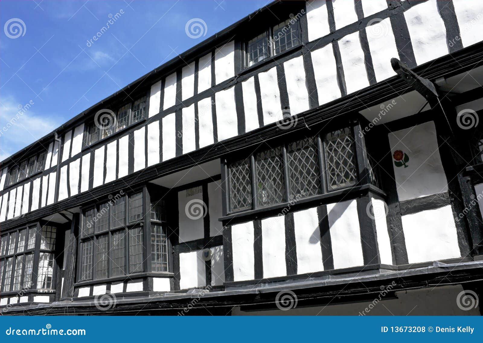 Construction noire et blanche de tudor, Shrewsbury