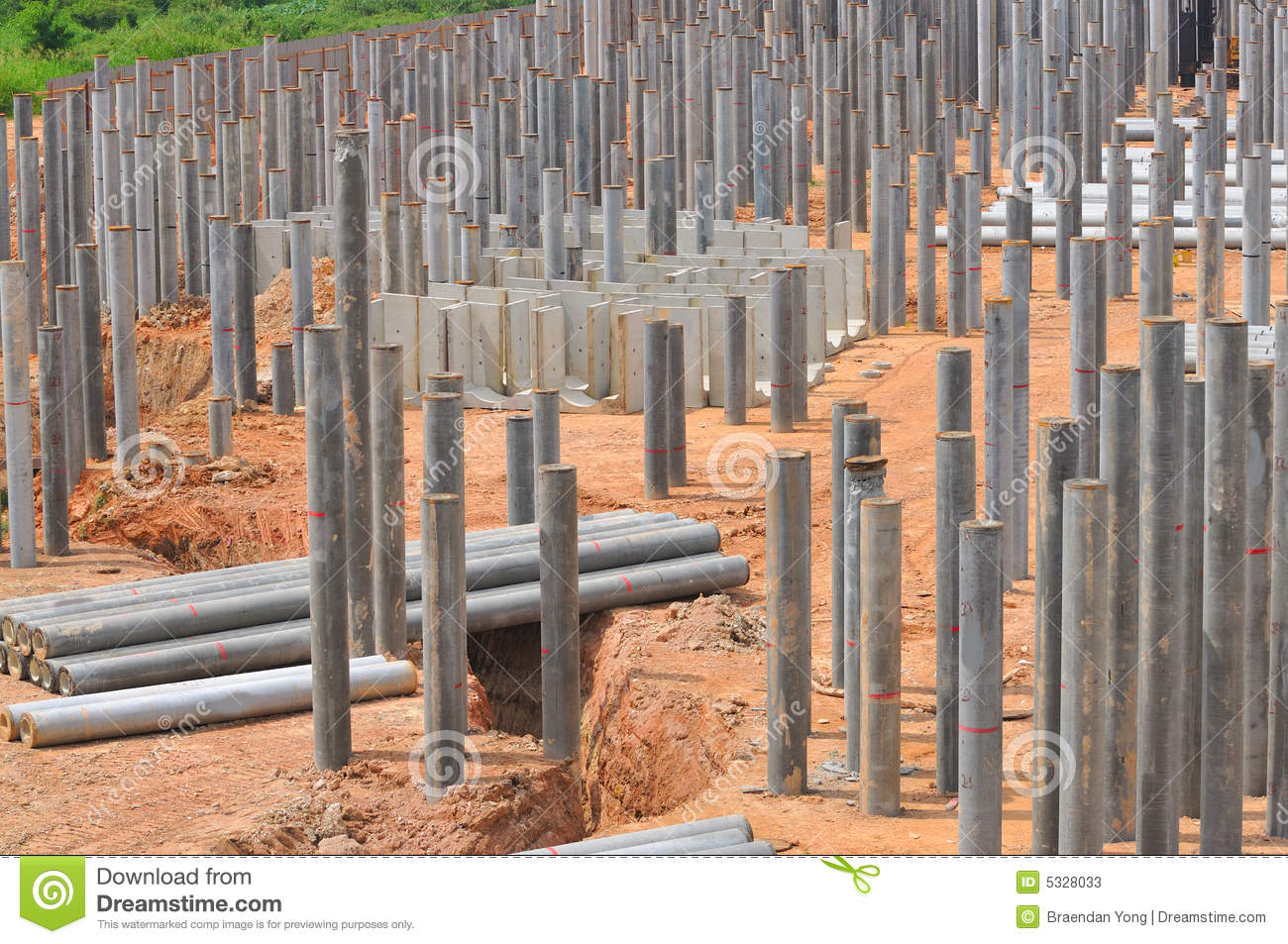 Construction piling series 6 stock photos image 5328033 for Cost of pilings for foundations