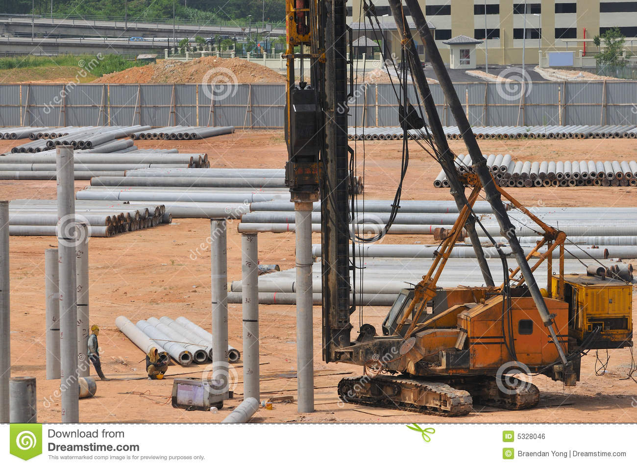 Construction piling series 7 stock photo image 5328046 for Piling for house foundations