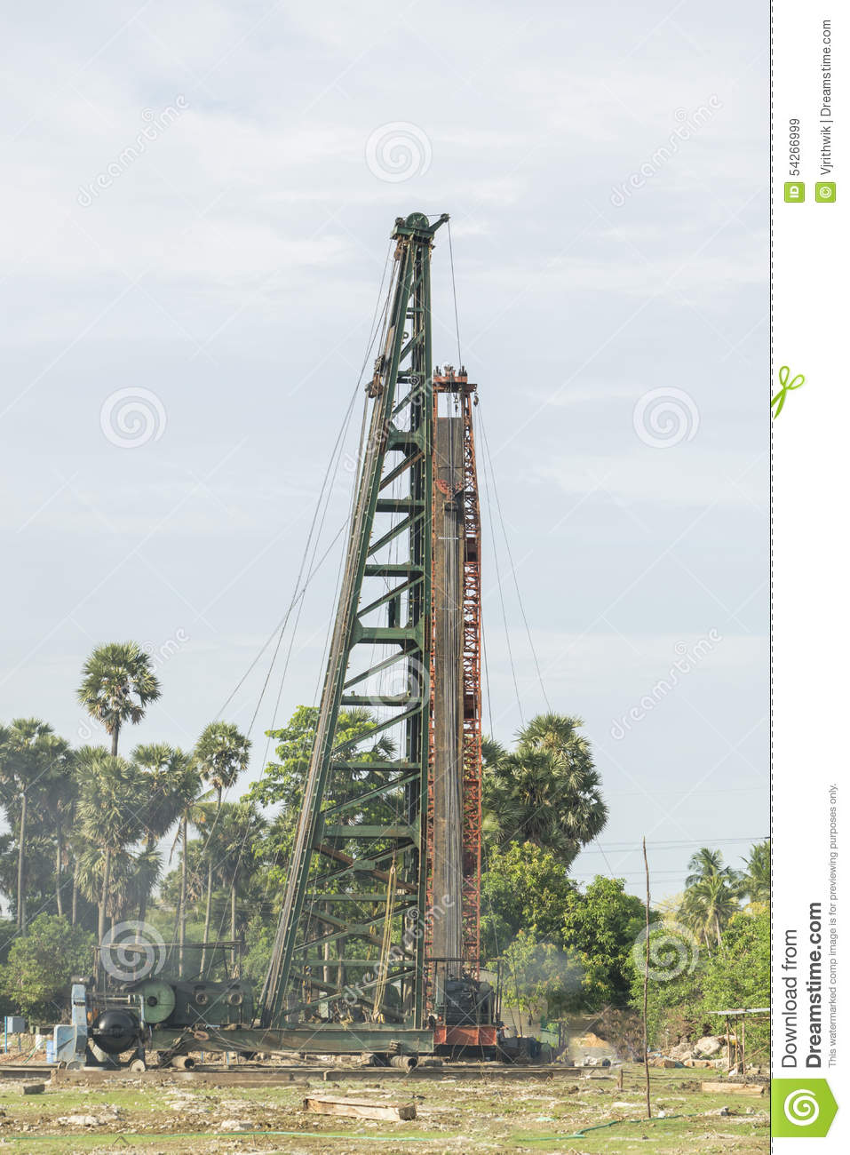 Construction piling stock image image of caissons firm for Piling for house foundations