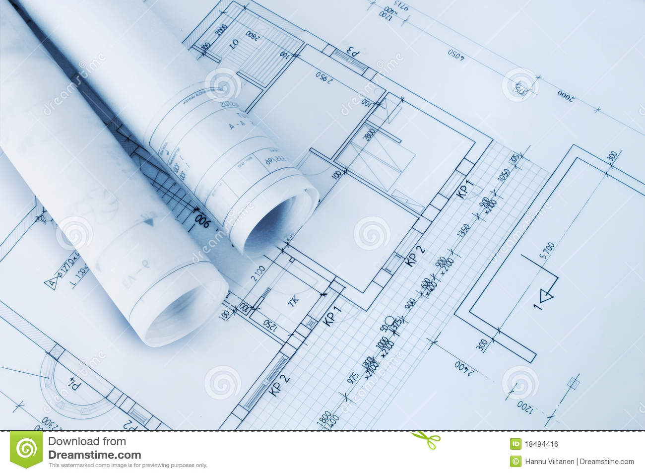 Construction plan blueprints stock photo image 18494416 for Building plans images
