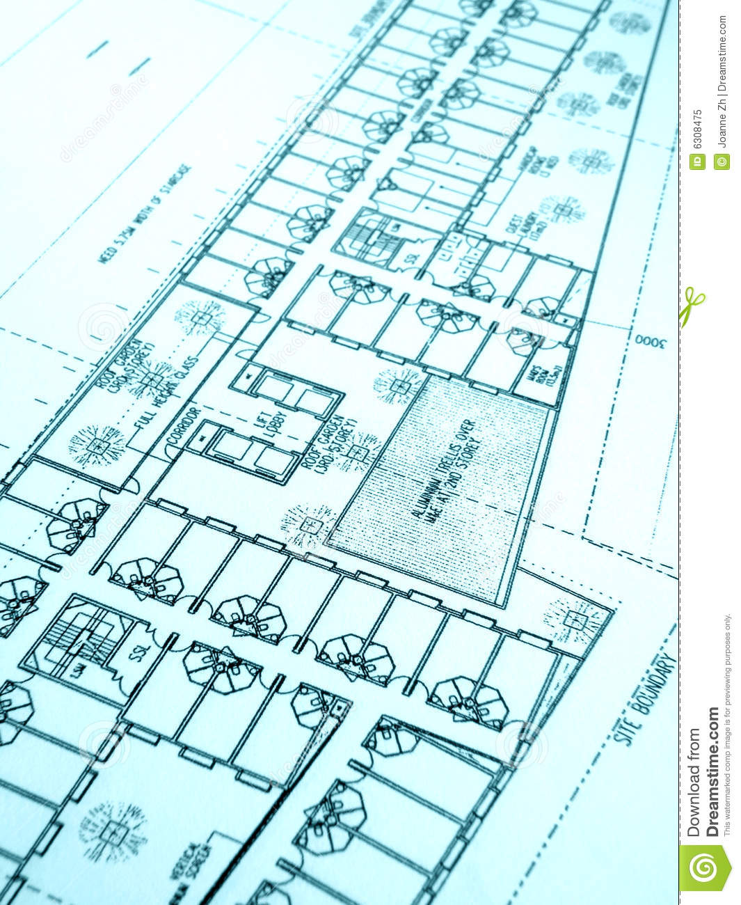 Construction plan office building royalty free stock for Building layout plan free