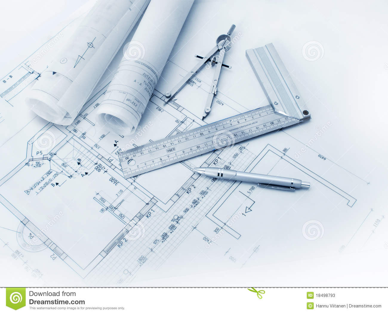 Construction plan tools stock image image of scale house Building design tool