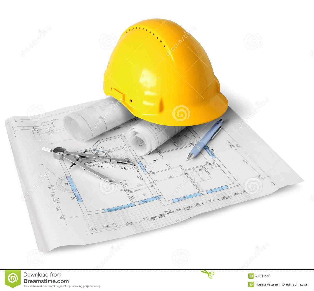 Construction plan tools stock image image of technical for Plan construction
