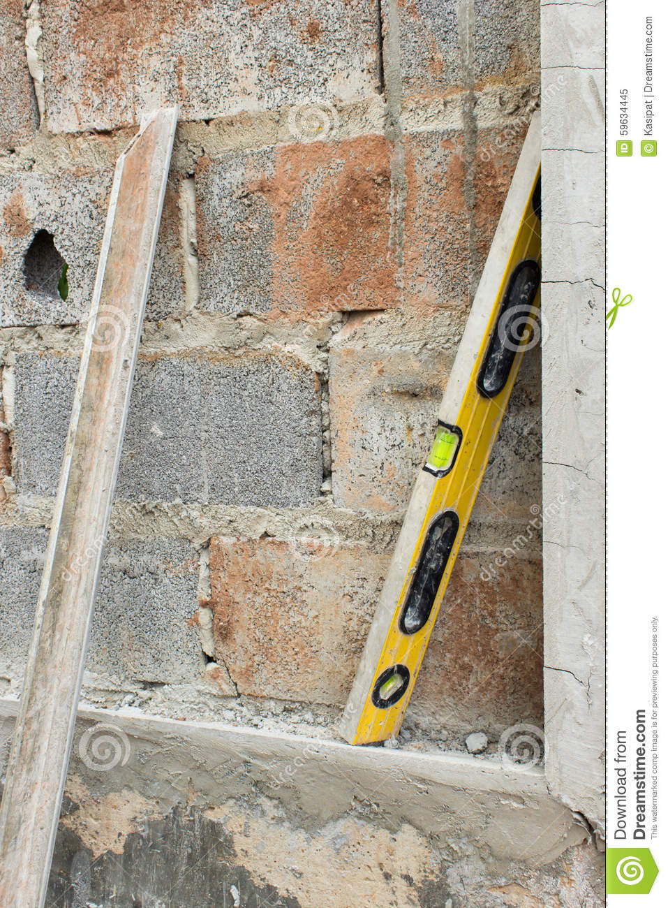 Construction Plaster Tool stock image  Image of background