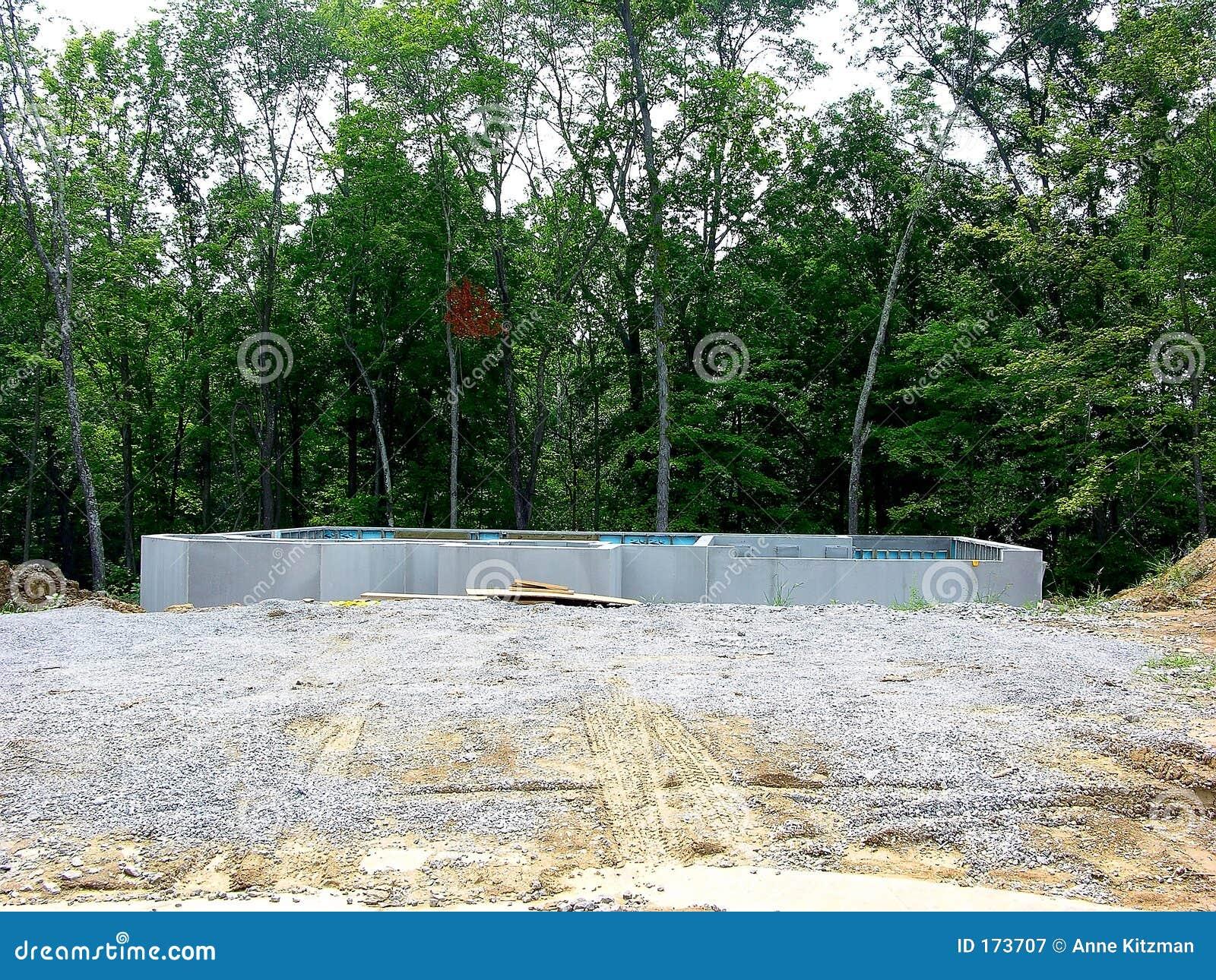 Construction Poured Concrete Foundation Royalty Free
