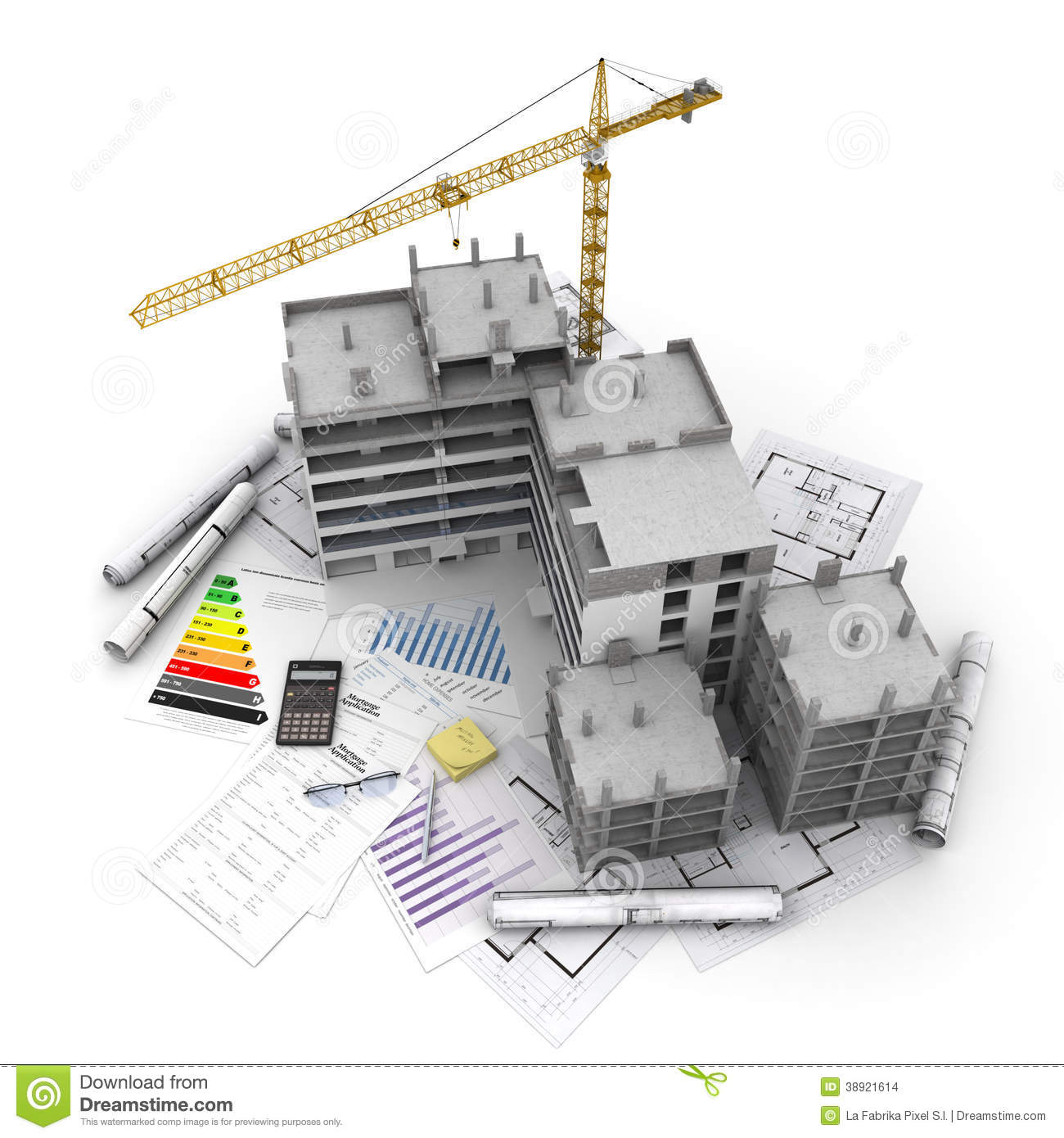 Construction Project Overview Stock Illustration Image