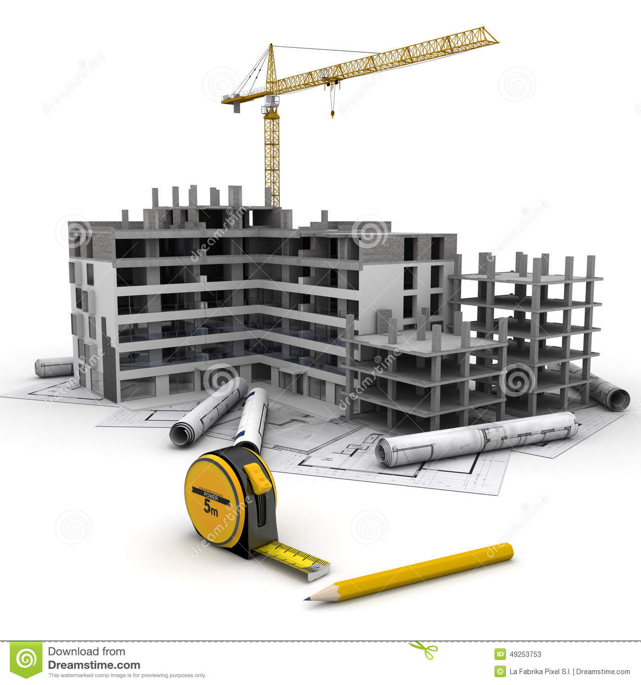 Construction project in progress stock image image of for Build best construction