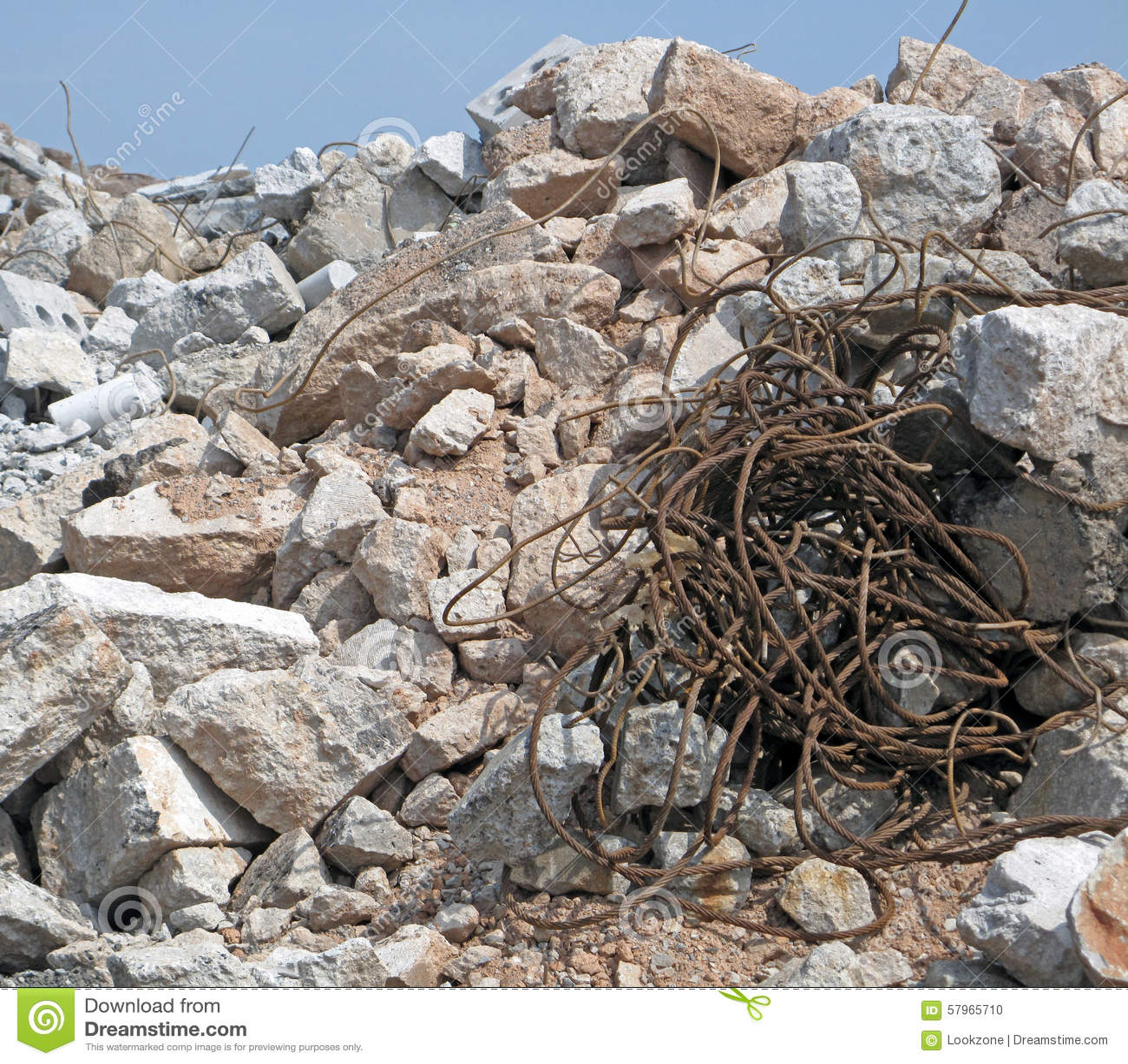 Pile Of Building Debris : Construction rubble stock photo image of fragments