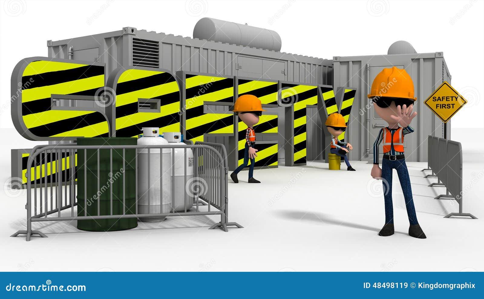 Construction safety scene