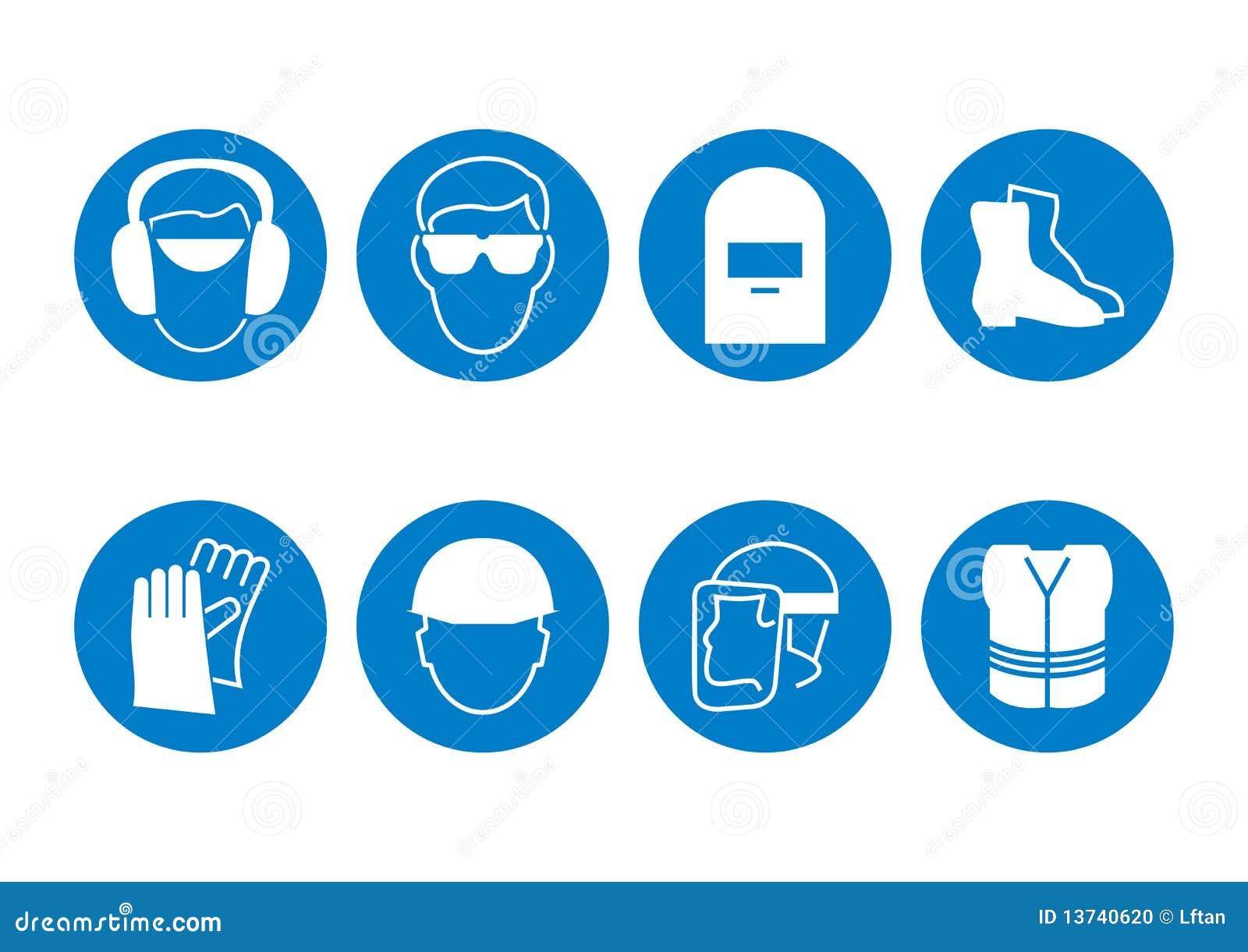 Construction Safety Symbols Stock Photo - Image: 13740620