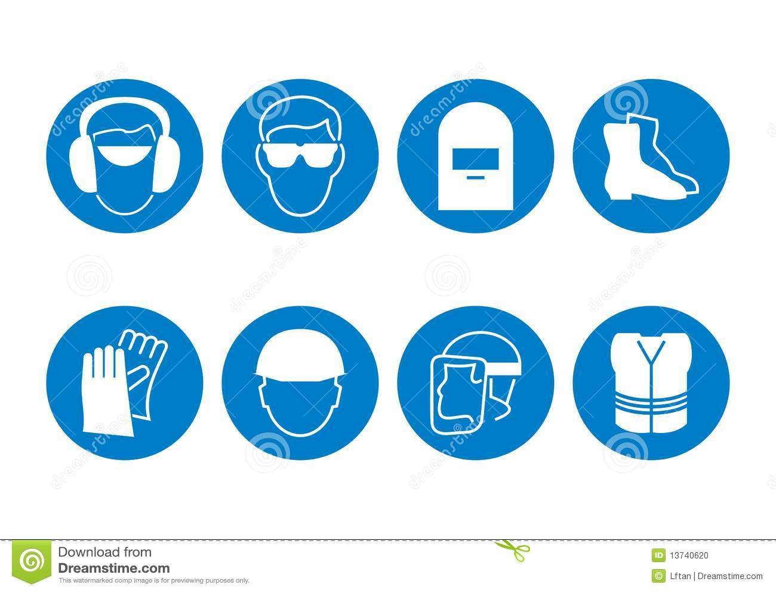 Construction Safety Symbols Stock Vector Illustration Of Danger
