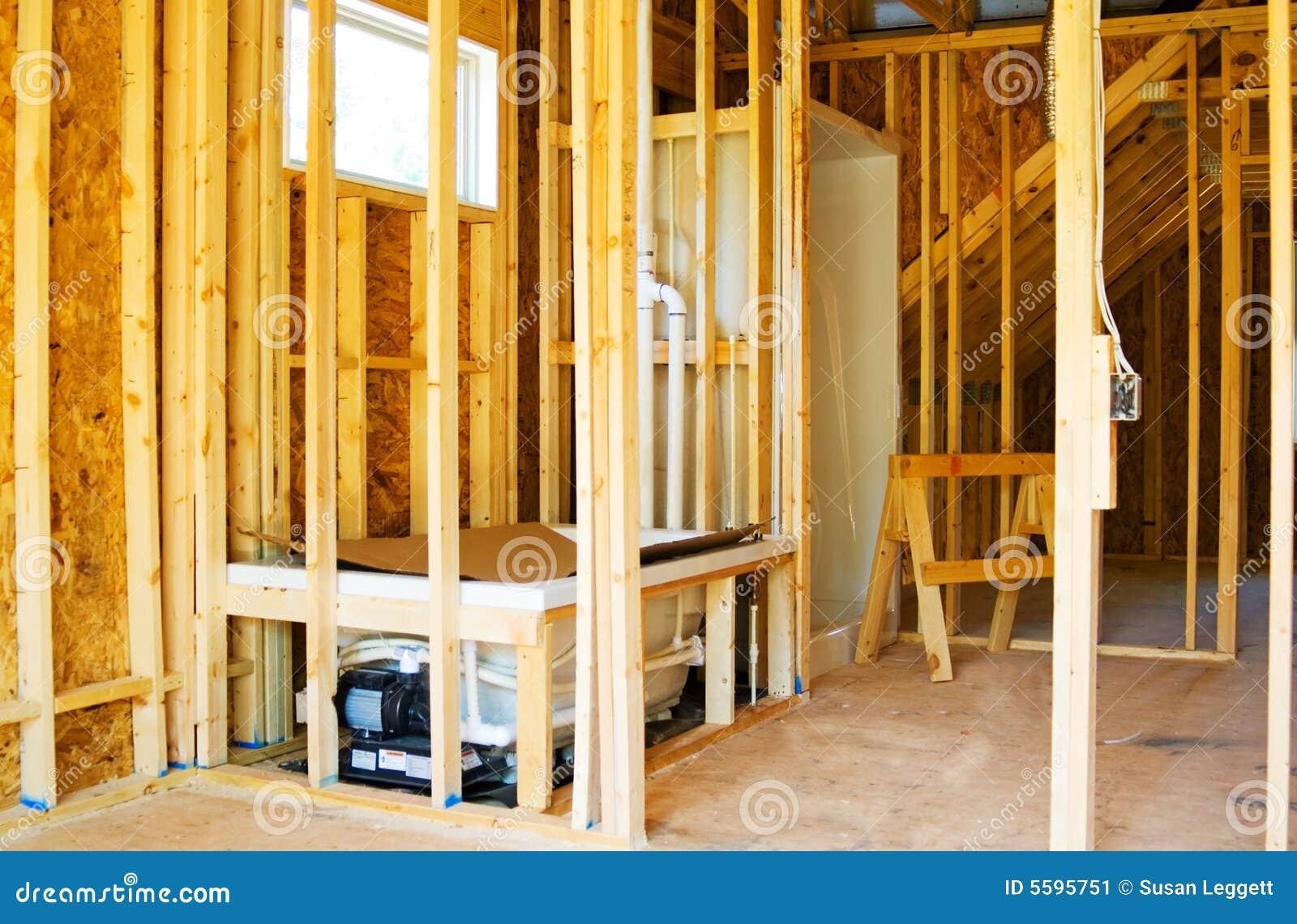 Construction salle de bains image stock image 5595751 for Construction salle de bain