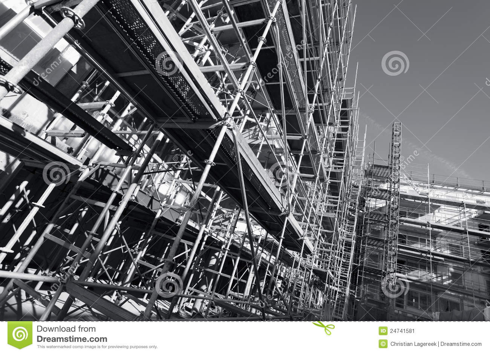 Construction Scaffolding Design : Construction scaffolding stock image