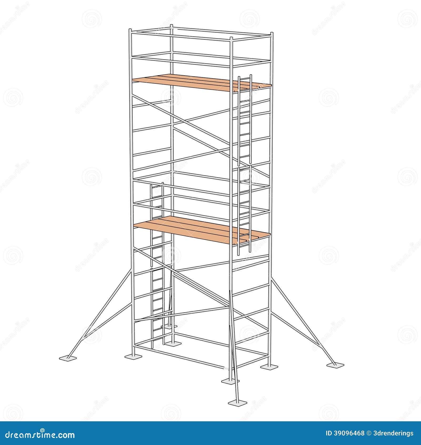 Construction Scaffolding Design : Construction scaffolding stock illustration image