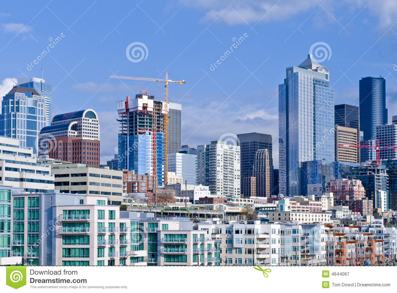 Construction in seattle stock image image of america for Seattle builders