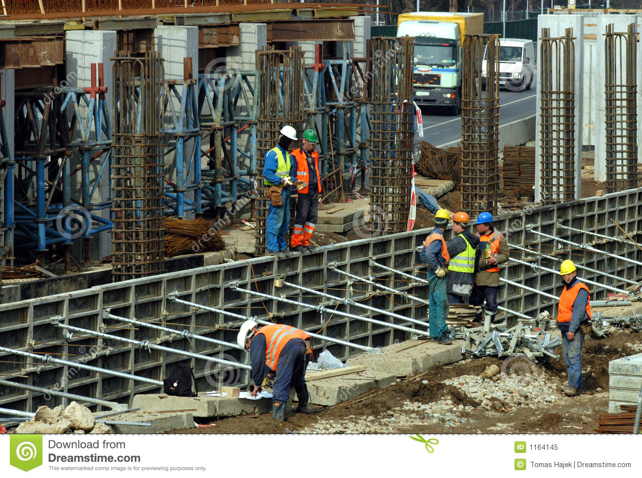 Royalty Free Stock Photo: On construction site: www.dreamstime.com/royalty-free-stock-photo-construction-site...