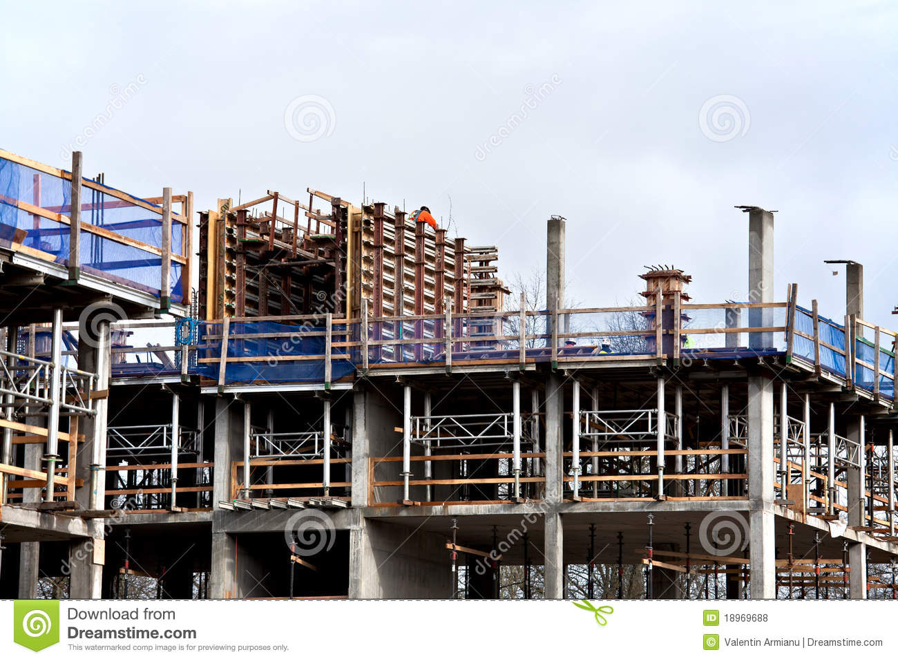 Download Construction Site stock photo. Image of engineer, worker - 18969688