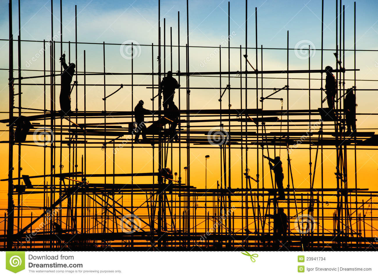 Construction site stock photo image of background build for Site constructeur