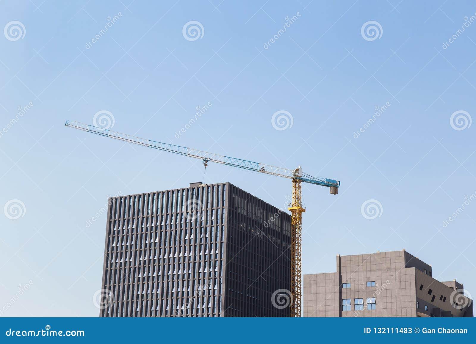 Construction site background.
