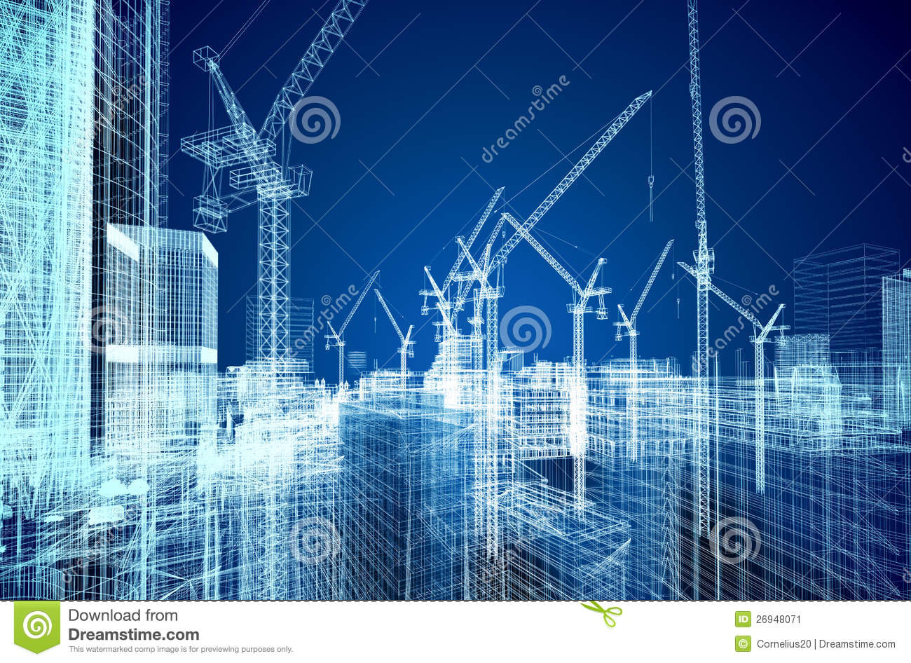 Construction Site Blueprint Stock Image Image 26948071