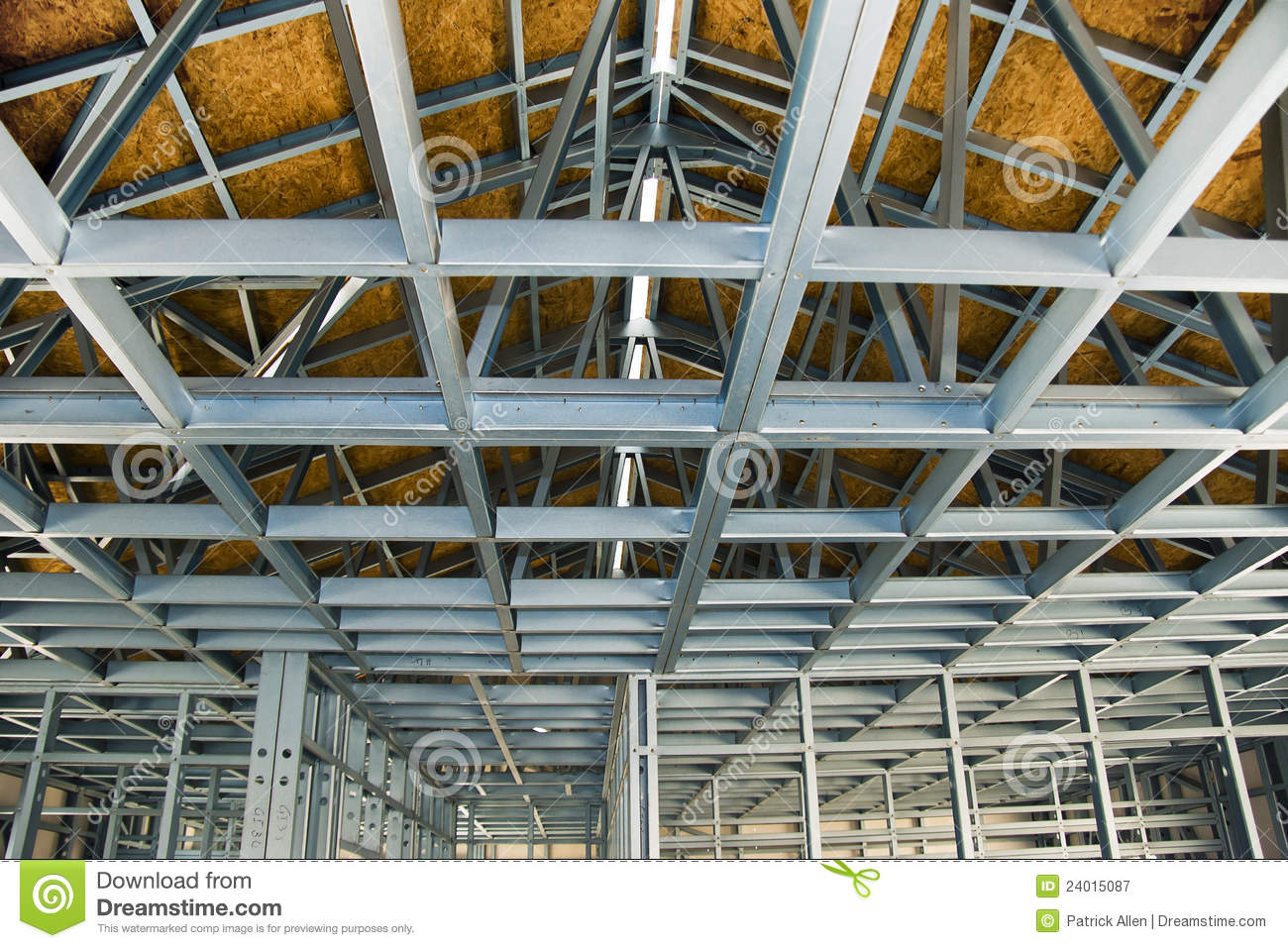 Construction Site Cold Formed Steel Framing Stock Image