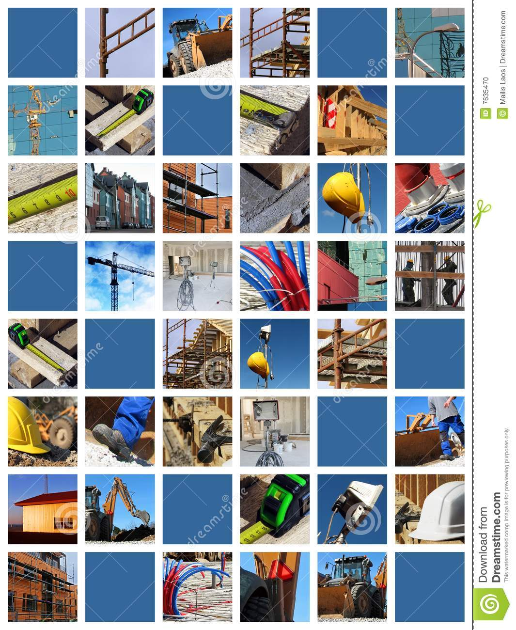 Download Construction site collage stock photo. Image of ground - 7635470