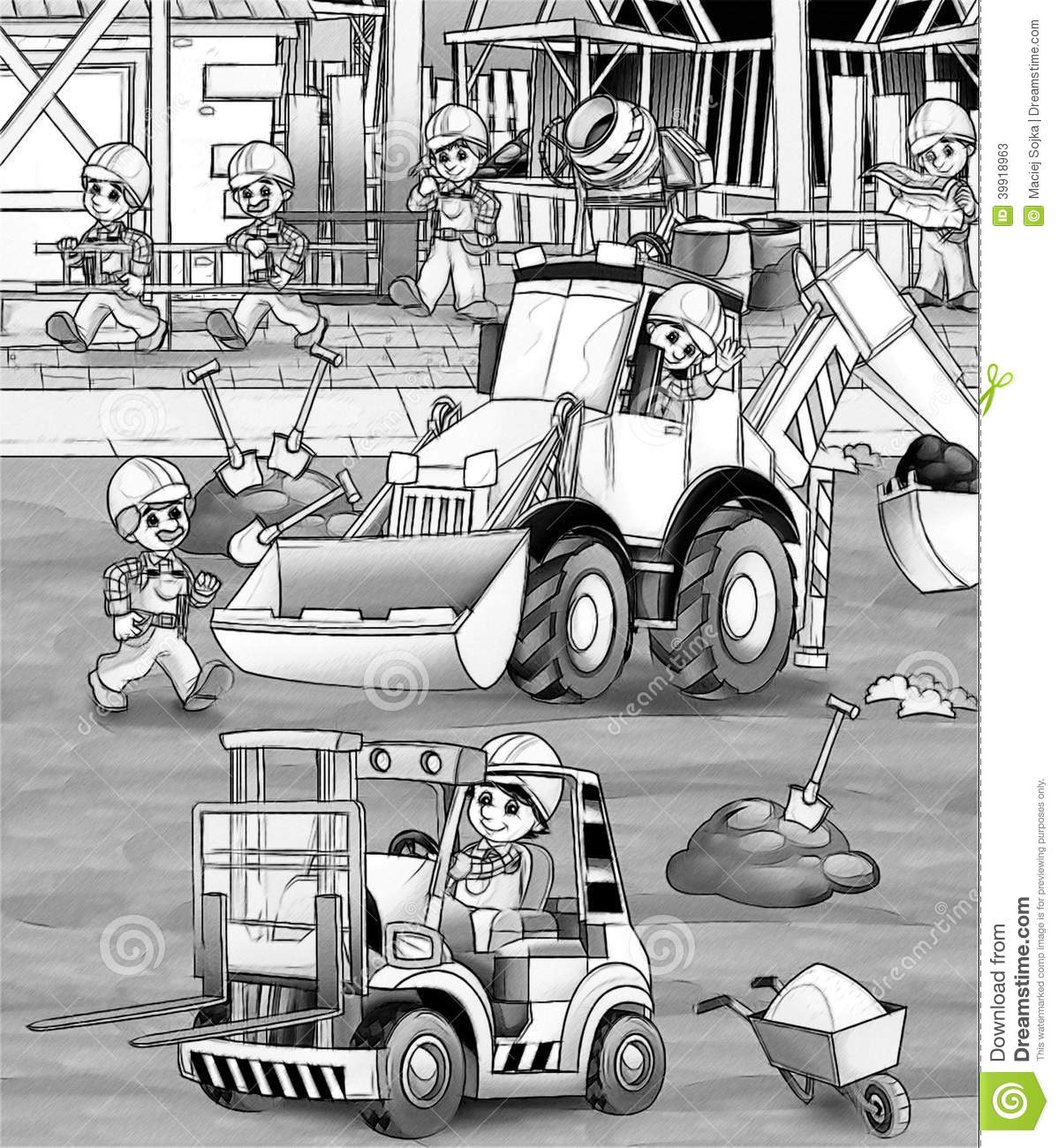 construction site coloring pages - pin front loader colouring pages on pinterest